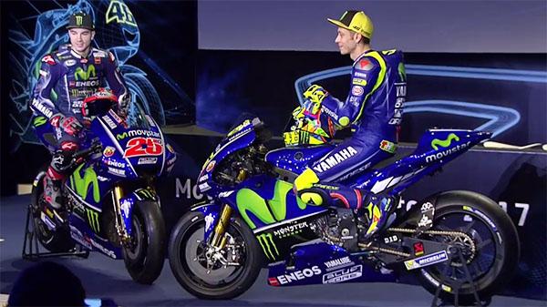 Rossi, Vinales dan Yamaha M1 livery 2017