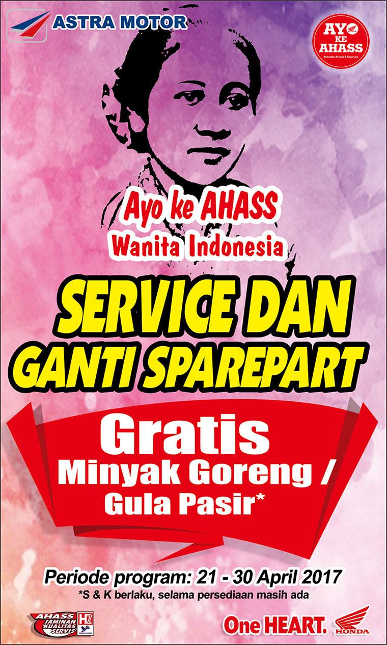 Peringati Hari Kartini, Honda Ajak Wanita Indonesia ke AHASS
