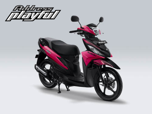 Pilihan Warna Suzuki Address Playful warna Hyper Pink