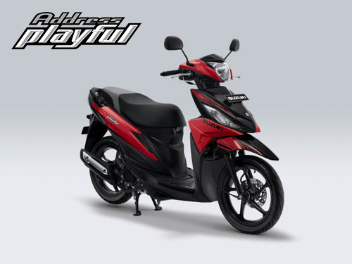 Pilihan Warna Suzuki Address Playful warna Stronger Red