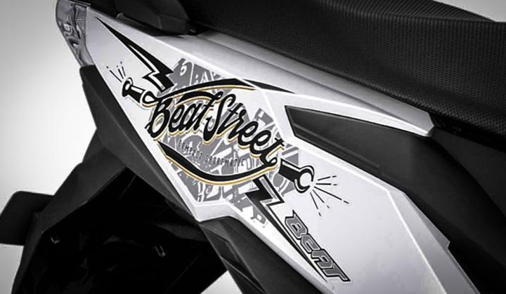 Striping Honda BeAT Street putih