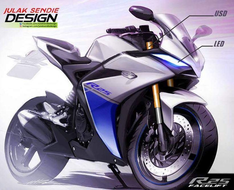 Yamaha New R25 facelift