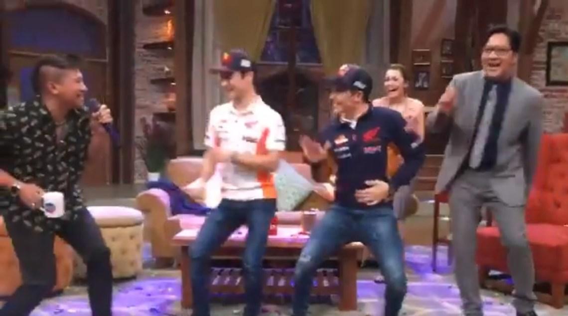 Marquez dan Pedrosa berjoget