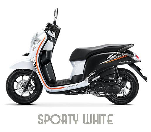 Warna Scoopy 2018 Sporty Putih