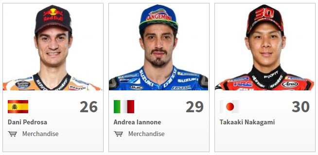 Nama Pembalap MotoGP 2018 Pedrosa, Iannone, Nakagami