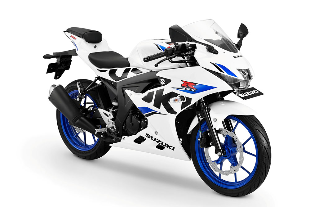 Warna GSX-R150 2018 Keyless - Brilliant White