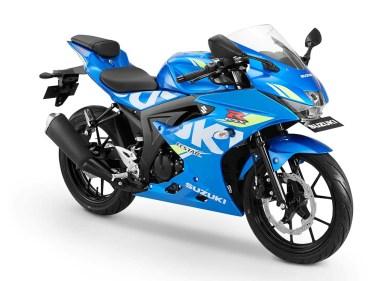 Warna GSX-R150 Keyless - Biru Muda MotoGP