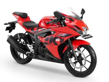 Warna GSX-R150 Keyless - Merah Striping Hitam SUZUKI