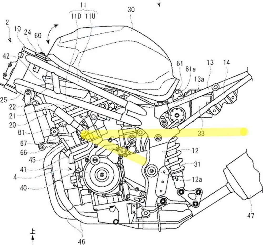 Paten Suzuki GSX-R250 bagian rangka