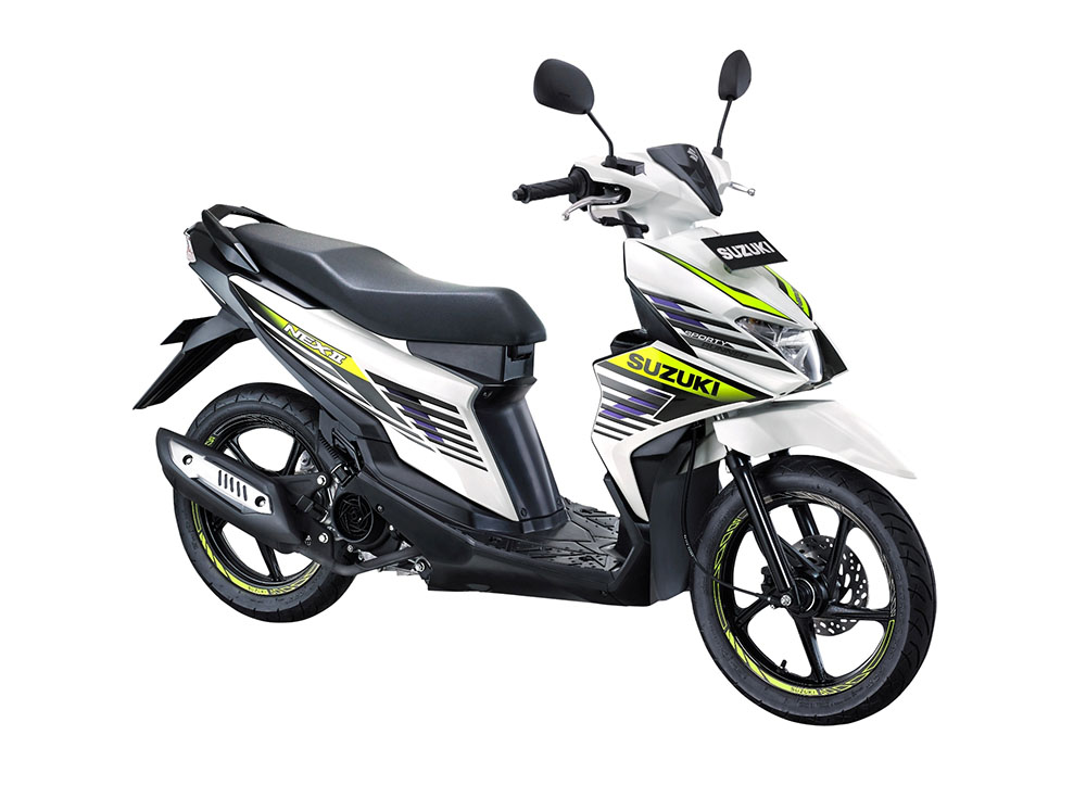 Warna Suzuki NEX II Sporty Runner Brilliant White
