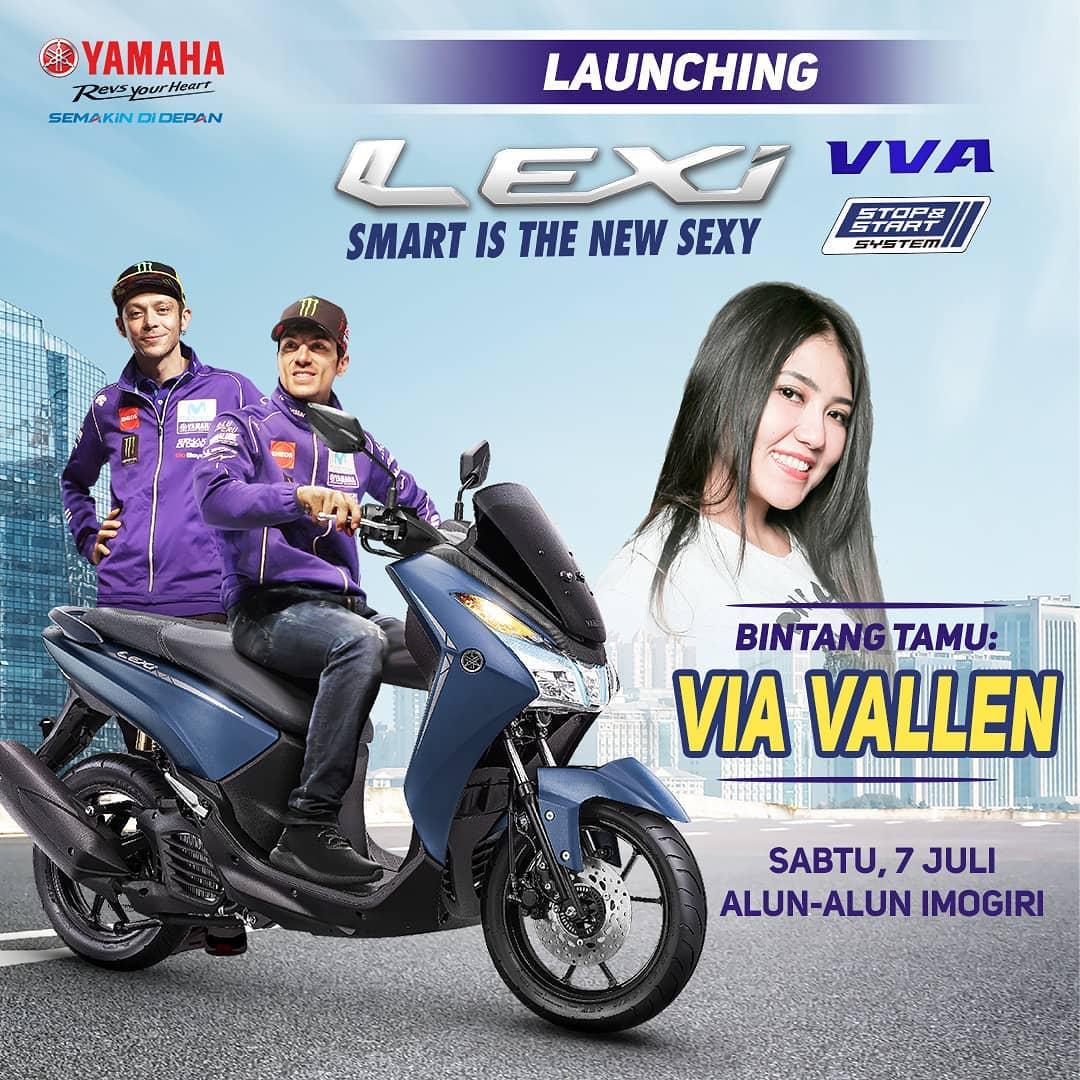 Launching Yamaha Lexi 125 di Bantul Jogja, ada Via Vallen