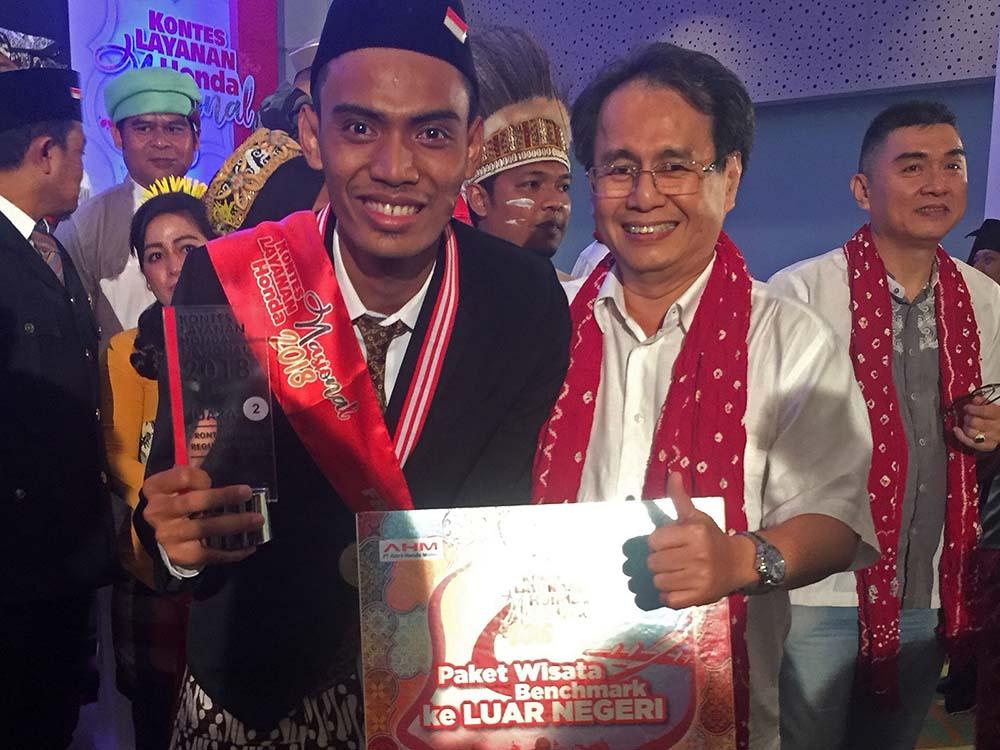 Muhamad Chusnein juara dua FLP Regular Kontes Layanan Honda Nasional 2018 Astra Motor Yogyakarta