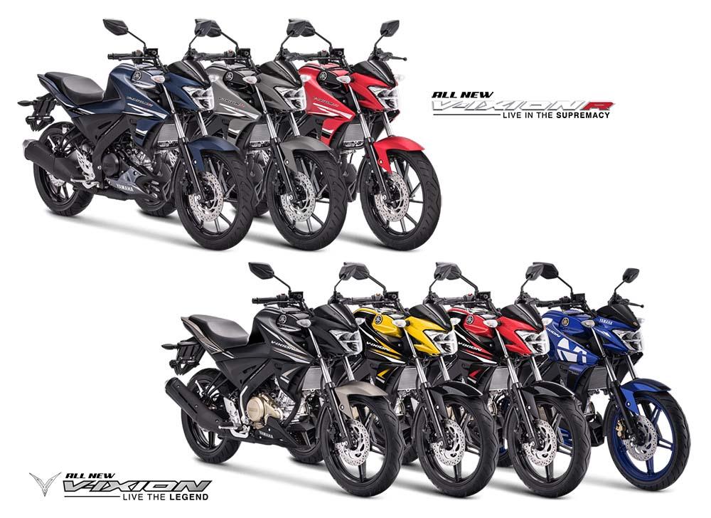 Pilihan Warna Yamaha Vixion 150 dan Vixion R 155 VVA