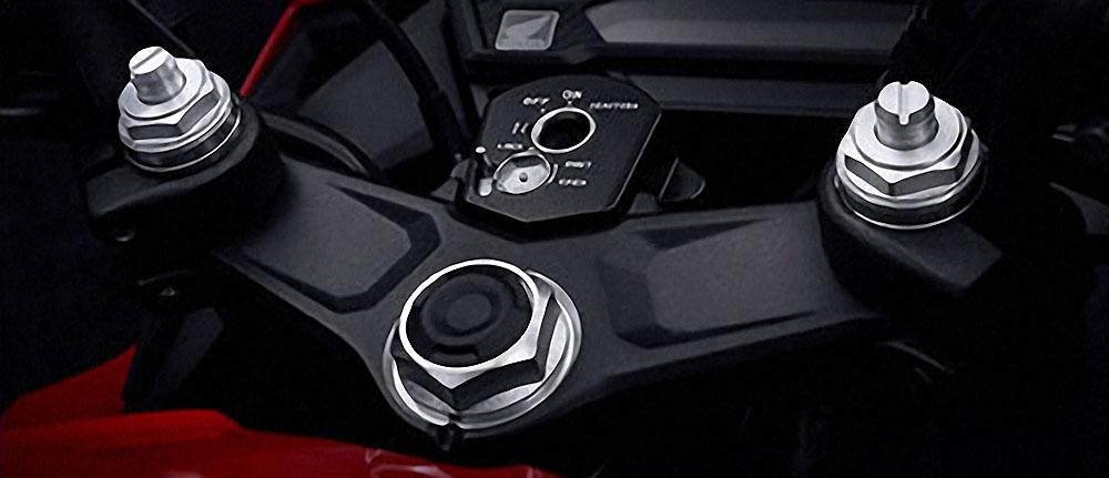 Shock Depan Honda CBR150R terbaru bisa disetel kekerasanya