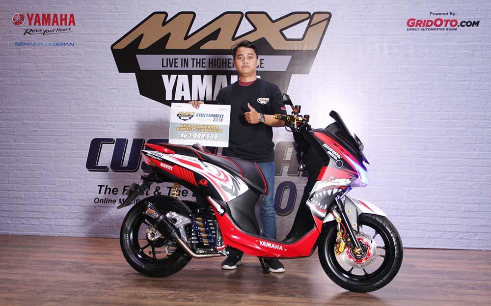 Juara Modifikasi Rising Star Lexi CustoMAXI Yamaha 2018 Yogyakarta