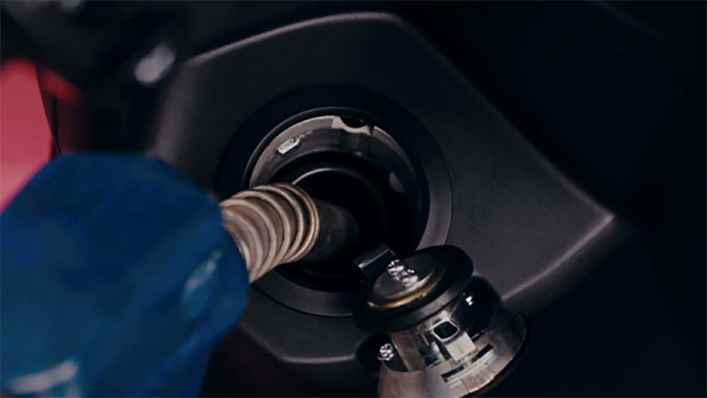 Posisi Tutup pengisian bensin Yamaha FreeGo