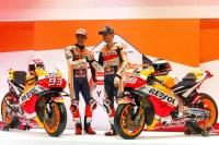 Marquez dan Lorenzo lauching Tim Repsol Honda