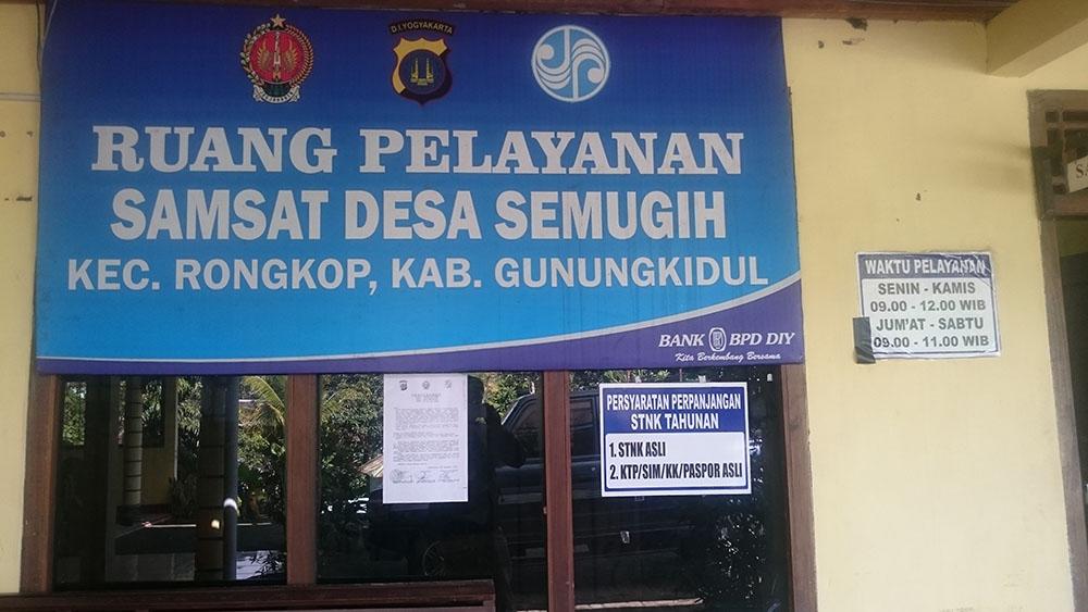 Pelayanan Samsat Desa Semugih Rongkop Gunungkidul