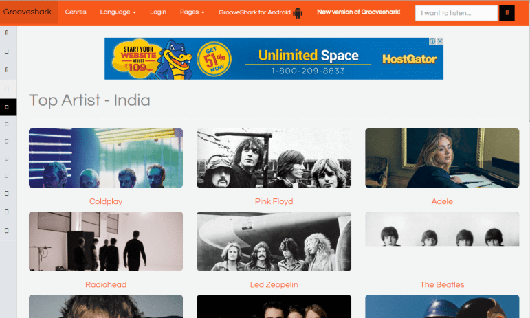 Grooveshark Unblocked Music Sites