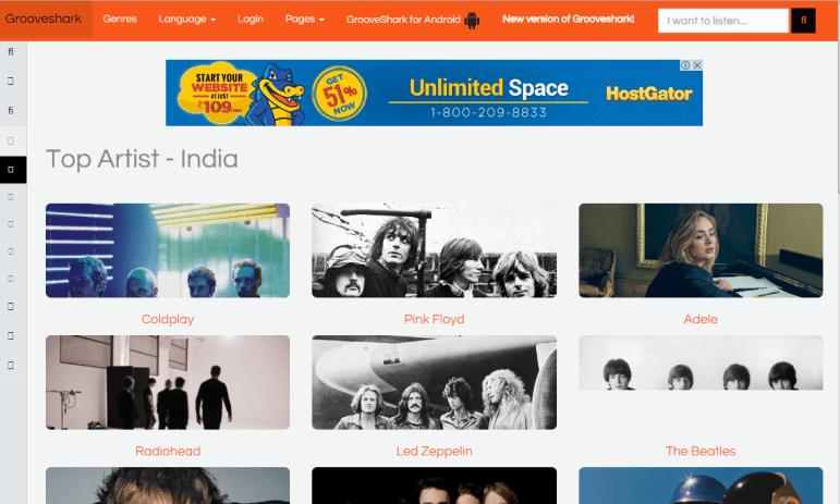 Grooveshark Unblocked Music Sites