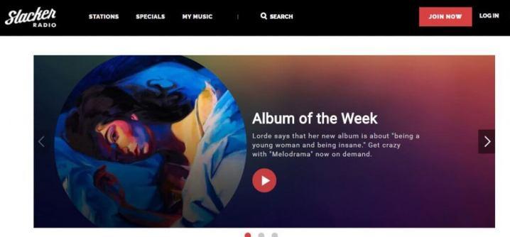 Slacker music site