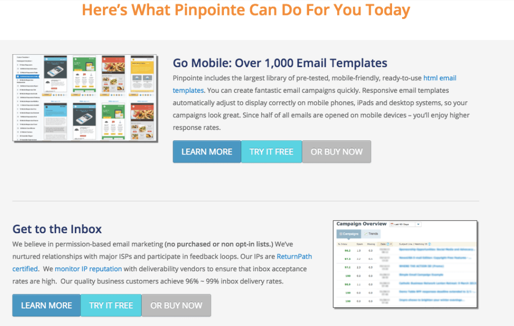 Pinpoint Templates