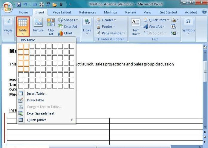 Cara Menambahkan Tabel Kosong di Word