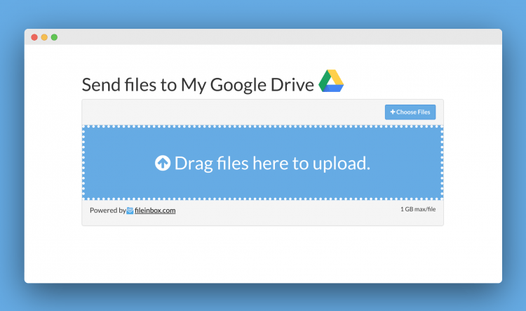 Upload File Drag and Drop GDrive