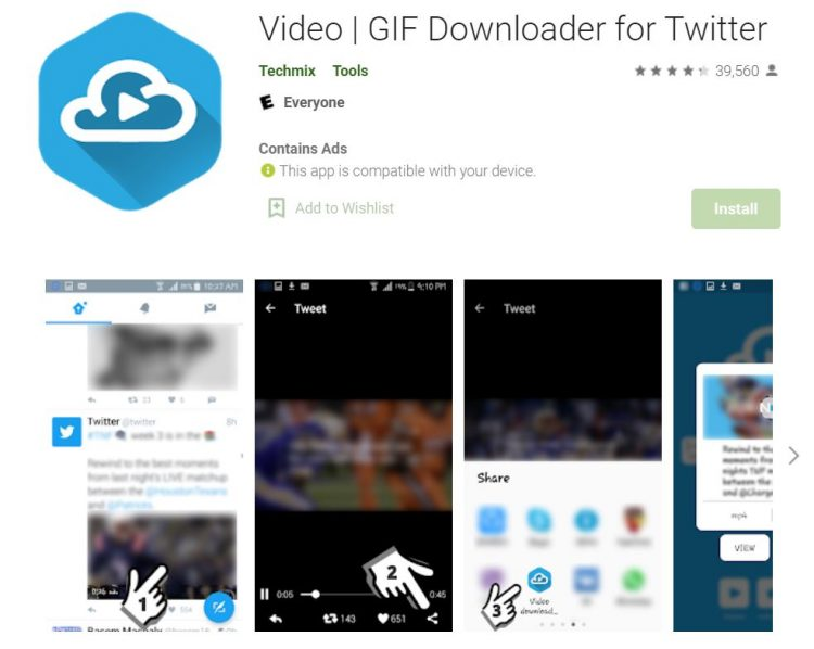Video GIF Downloader for Twitter