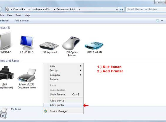 Cara Add Printer dari sharing komputer lain