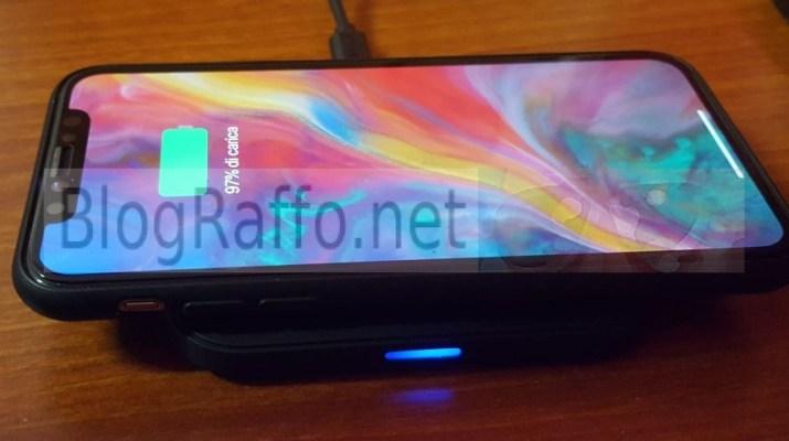 Iphone X in ricarica wireless