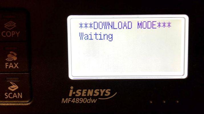Canon I-Sensys Errore ***DOWNLOAD MODE*** Waiting