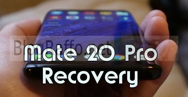 Huawei Mate 20 Pro Recovery Menu