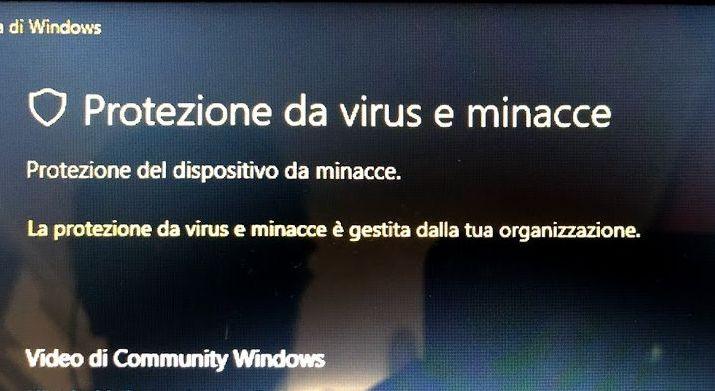 soluzione-windows-defender-la-protezione-da-virus-e-minacce-e-gestita-dalla-tua-organizzazione-tutorial