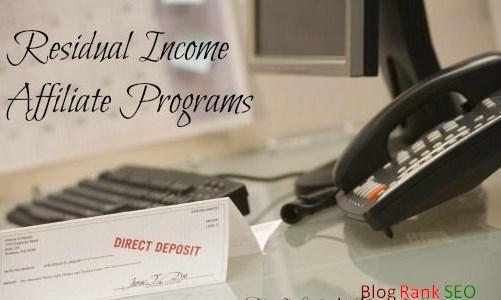 Residual Income Affiliate Program