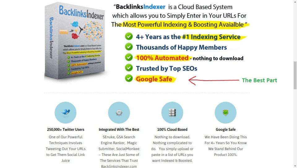 Backlinks-indexer-package