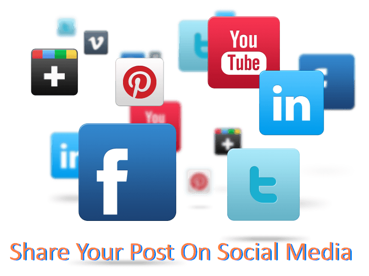 Share Your Post On Social Media