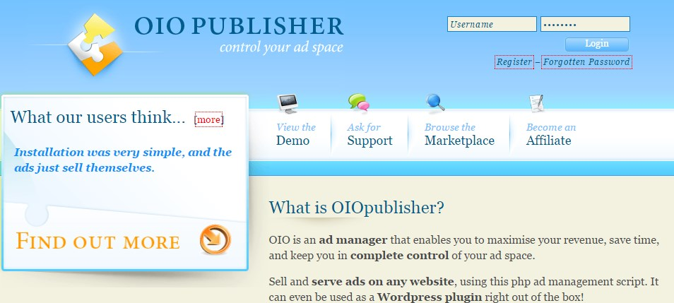 OIO Publisher Ad Manager