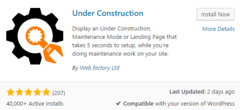 Under-Construction-plugin-installation