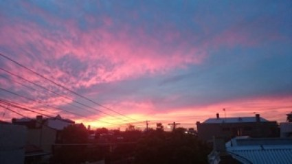 The view from my terrace one evening.