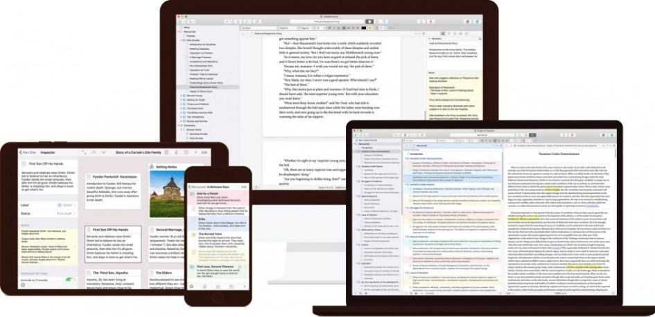 Scrivener across all devices