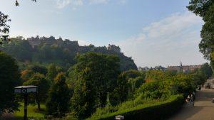 A view of Edinburgh from Princes Street Gardens