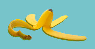 A picture of a banana peel