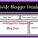 Divide Header In Two Parts or Sections in Bloggers Blog