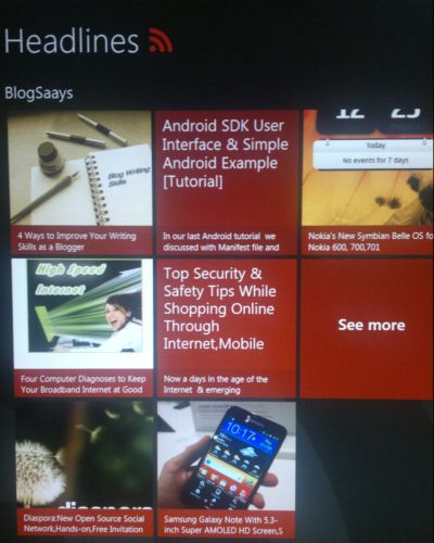 Headline App In Windows 8