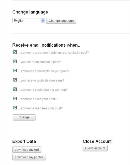 Manage Diaspora Notification Settings