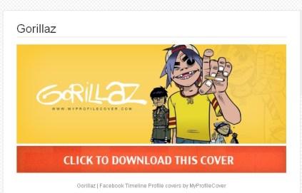 Gorillaz  myprofilecover.com