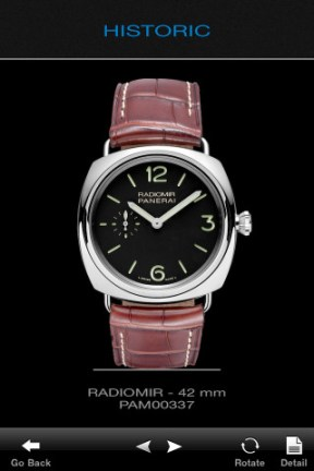 Panerai iphone app
