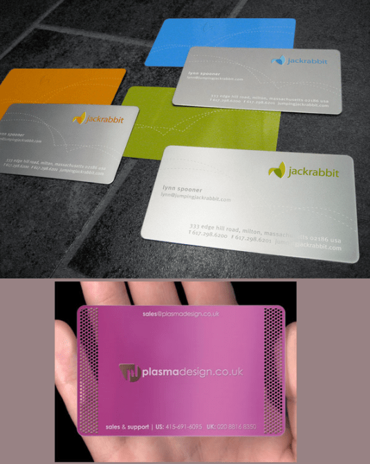 Best business card design metal