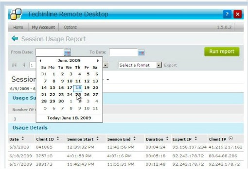 Techinline - Reporting Tool Remote Desktop Sharing